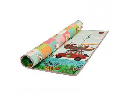 Pěnová podložka Play Maxi 200*180 cm, cestování/zvířátka