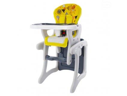 EUROBABY Jídelní židlička víceúčelová 2v1 - žlutá