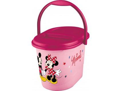 """Koš na pleny """"Mickey&Minnie"""", Růžová"""