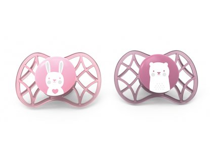 Ortodontické dudlíky Explorer 0m+ 2ks, Pink