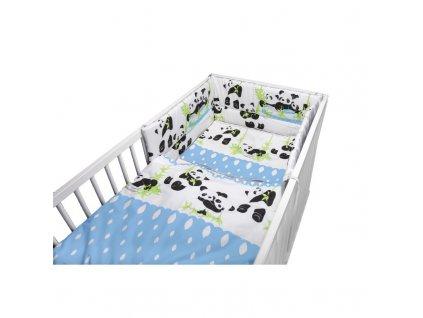 Cosing 3-dílné dětské povlečení 100x135cm - Panda modrá