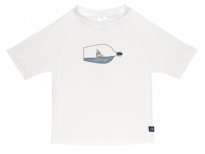 Short Sleeve Rashguard ship in bottle white 18 mo.