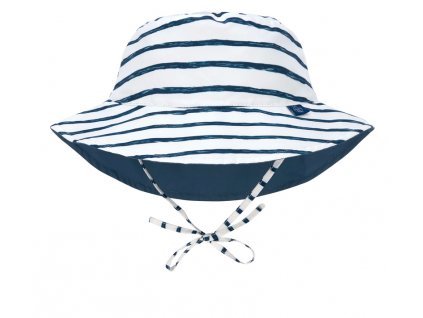 Sun Bucket Hat stripes navy 09-12 mo.