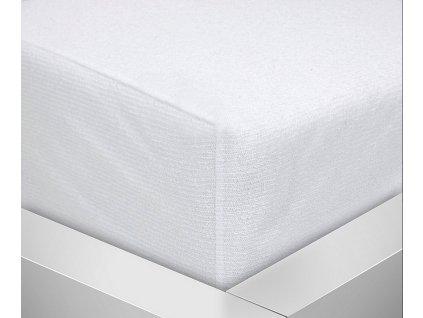 Baby chránič matrace froté pogumovaný 120x60cm - bílý napínací