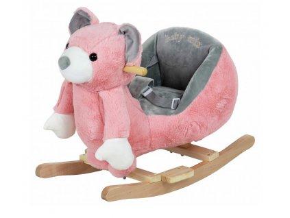 Baby Mix houpací medvídek, růžová