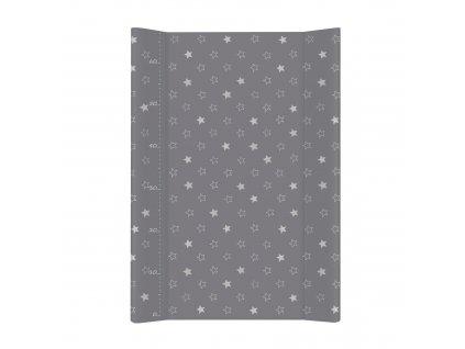 Ceba Baby přebalovací podložka pevná tvarovaná 70x50cm - Hvězdy tmavě šedá