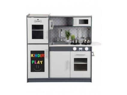 Kinderplay dřevěná kuchyňka pro děti, šedá