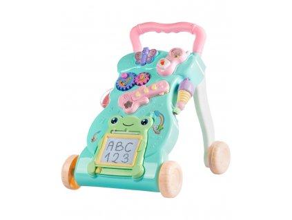 Kinderplay interaktivní dětské chodítko, mentolová
