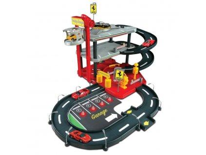 Bburago garáž s auty Ferrari Race & Play