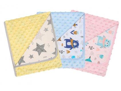 Duetbaby dětská deka oboustranná Minky č. 625 - různé barvy