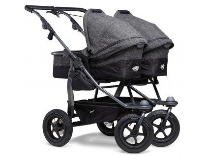 TFK kočárek pro dvojčata Duo combi pushchair - air wheel prem. anthracite