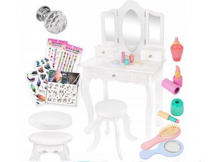 Kinderplay dřevěný toaletní stoleček, bílá