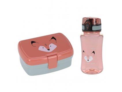 Lässig svačinová krabička a láhevlunch Set About Friends fox
