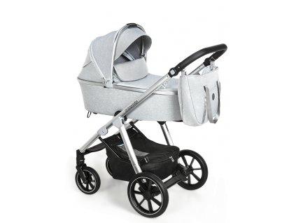 Baby Design kombinovaný kočárek Bueno, 27 light grey