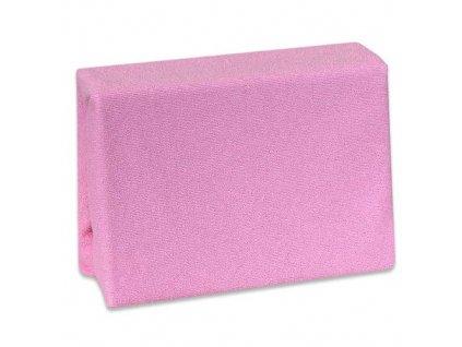 Nepropustné froté prostěradlo Cosing do postýlky - 120x60 cm - růžové