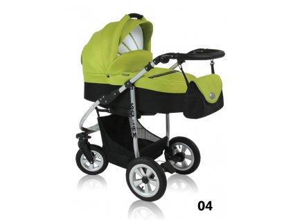 Prampol kombinovaný kočárek Solam 2019  komplet s autosedačkou - 04 zelený  + Reflexní náramek zdarma