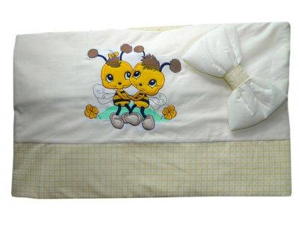 4-dílné dětské povlečení Cosing DeLuxe 100x135cm - Včelky žlutá