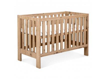 KLUPS Dětská dřevěná postýlka Marsell 120 x 60 cm - bílá