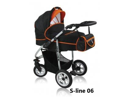 Prampol kombinovaný kočárek Solam komplet s autosedačkou - S-line 06  + Reflexní náramek zdarma