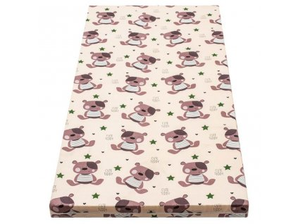 DANPOL Dětská matrace molitan 105 x 70 x 3 cm - barevná s potiskem