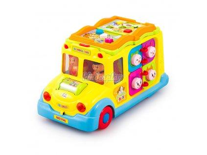 Kinderplay interaktivní školní autobus se světly a zvuky