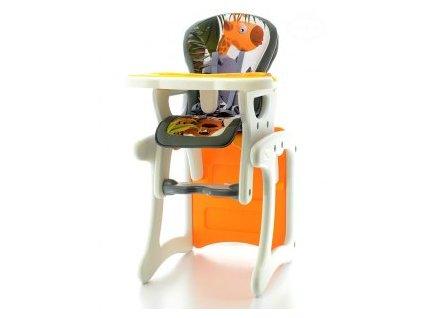 EUROBABY Jídelní židlička víceúčelová 2v1 - oranžová