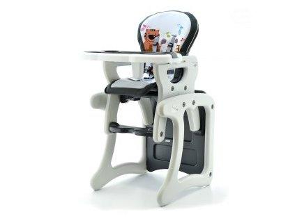 EUROBABY Jídelní židlička víceúčelová 2v1 - šedá