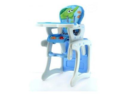 EUROBABY Jídelní židlička víceúčelová 2v1 - modrá