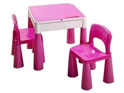 Tega Dětská sada stoleček a 2 židličky Mamut - Růžová