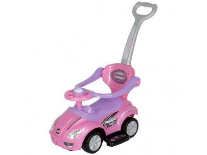 Baby Mix odrážedlo auto Mega car 3v1 – Růžové