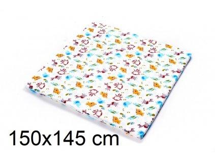 DANPOL Dětská matrace do ohrádky 150 x 145 x 3 cm - barevná s potiskem