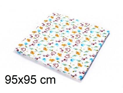 DANPOL Dětská matrace do ohrádky 95 x 95 x 3 cm - barevná s potiskem