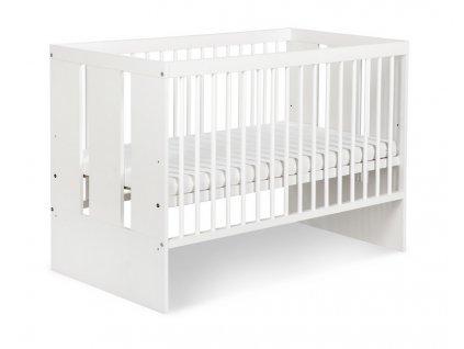 KLUPS Dětská postýlka Paula 120 x 60 cm - bílá