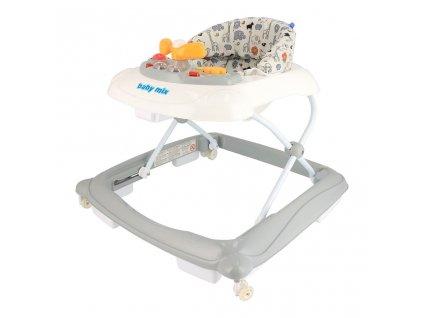 Baby Mix Dětské chodítko s volantem a silikonovými kolečky, beige