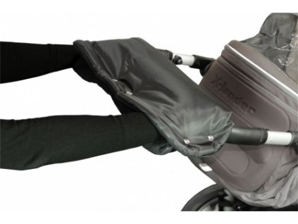 Emitex rukávník na kočárek fleece - černý