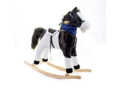 EUROBABY Houpací kůň EB 702 - Černo/bílý