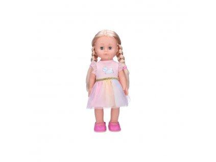 Wiky chodící panenka Eliška 41 cm, růžové šaty