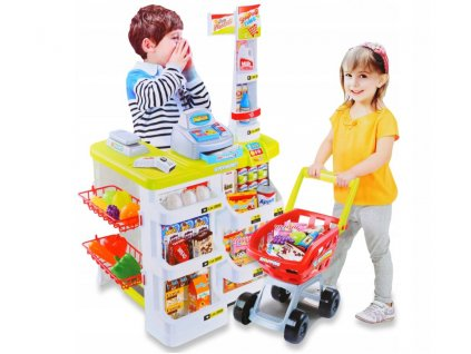 Kinderplay Supermarket s pokladnou a váhou, zelený