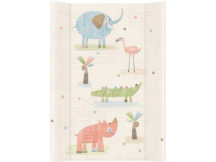 CEBA BABY Přebalovací podložka měkká tvarovaná 80 x 50 cm - papa bear šedá