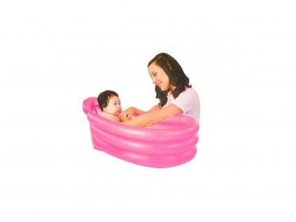 Dětská nafukovací vanička - růžová