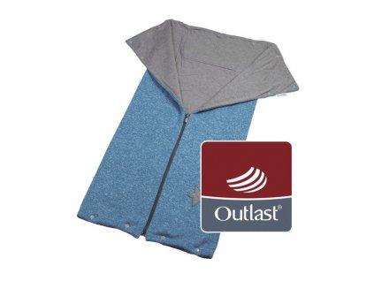 Little Angel autofusak ze svetroviny Outlast - modrý melír/šedá