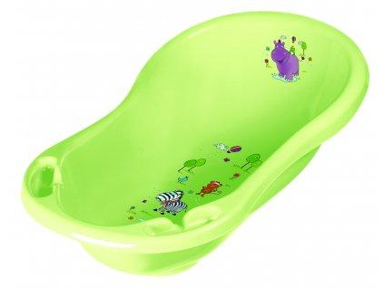 """PRIMA BABY Dětská vanička 84cm se zátkou """"Hippo"""", zelená"""