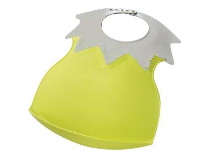 THERMOBABY Plastový bryndák s límcem, zelená