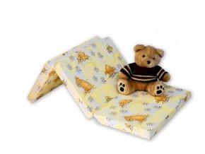 Danpol skládací dětská matrace do postýlky 120x60cm - barevná s potiskem