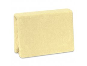 Nepropustné froté prostěradlo Cosing do postýlky - 120x60 cm - žluté
