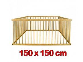 Dřevěná ohrádka pro děti 150 x 150 cm