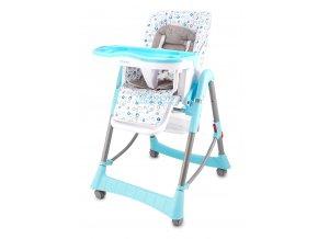 Jídelní židlička Standard - modrá kolečka