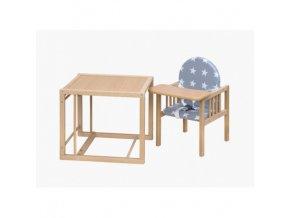 Basic - Dětská dřevěná jídelní židlička víceúčelová - buková