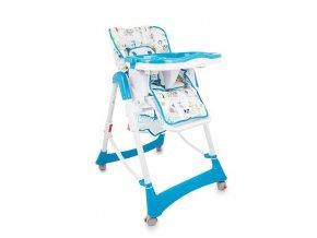 Jídelní židlička Standard - modrá zvířátka