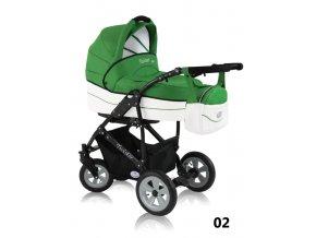 Twister eko 02 - komplet s autosedačkou - zelený